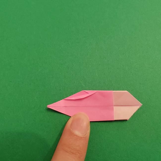 折り紙のアイスクリームコーン 立体的な折り方作り方2(29)