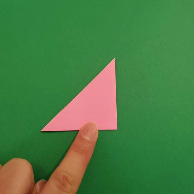 折り紙のアイスクリームコーン 立体的な折り方作り方2(3)