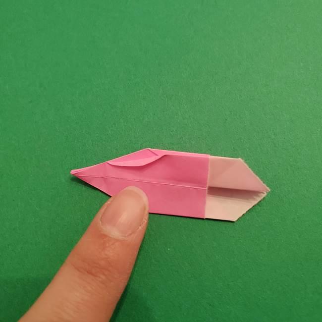 折り紙のアイスクリームコーン 立体的な折り方作り方2(30)