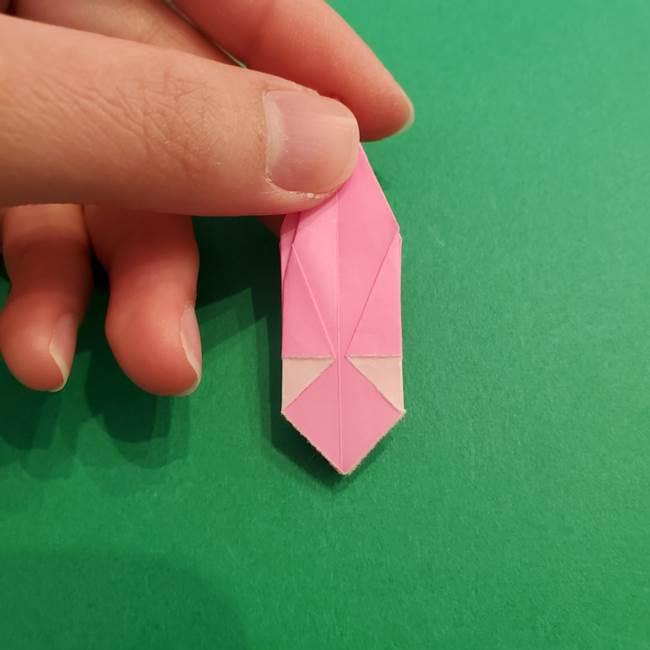折り紙のアイスクリームコーン 立体的な折り方作り方2(31)