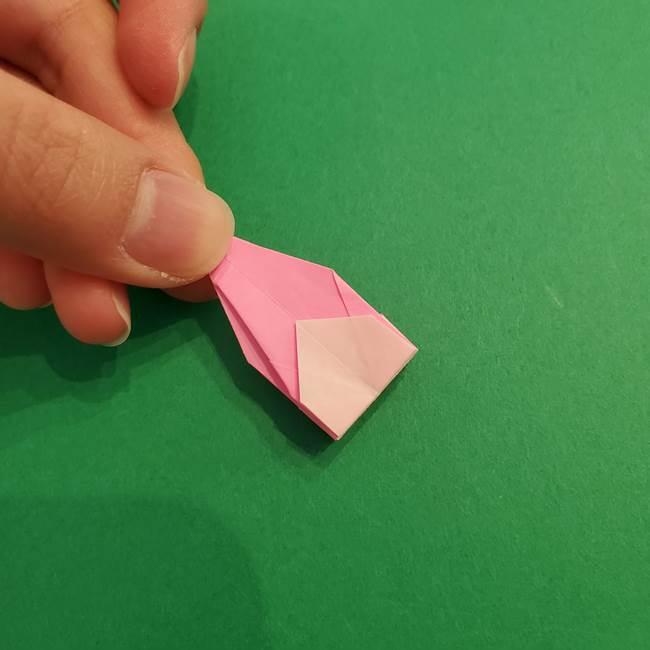折り紙のアイスクリームコーン 立体的な折り方作り方2(33)