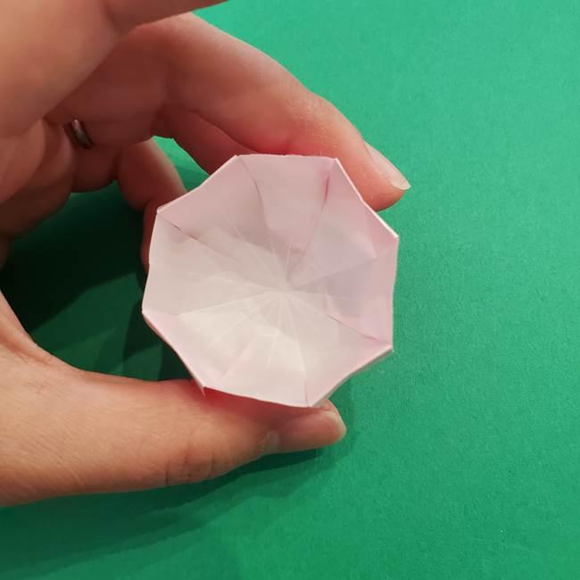 折り紙のアイスクリームコーン 立体的な折り方作り方2(35)