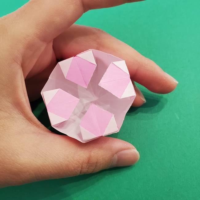 折り紙のアイスクリームコーン 立体的な折り方作り方2(36)