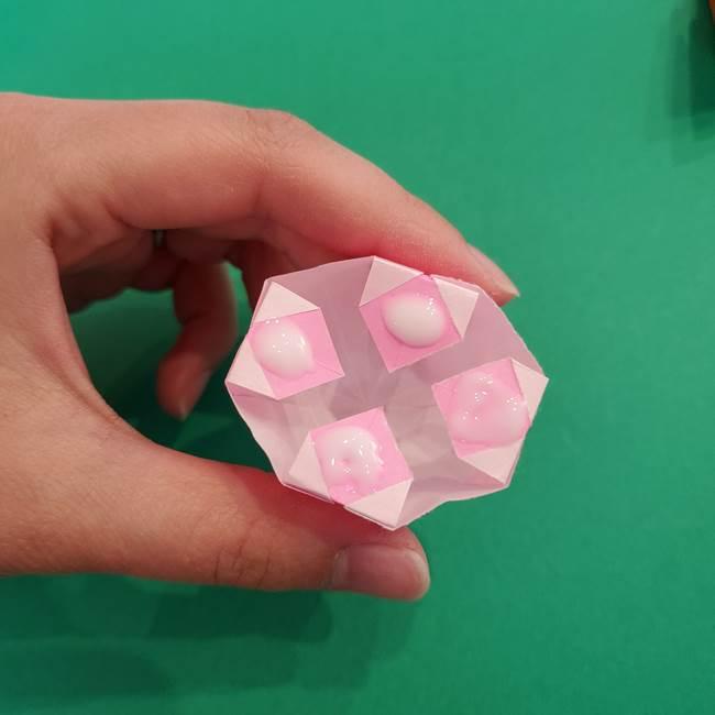 折り紙のアイスクリームコーン 立体的な折り方作り方2(37)