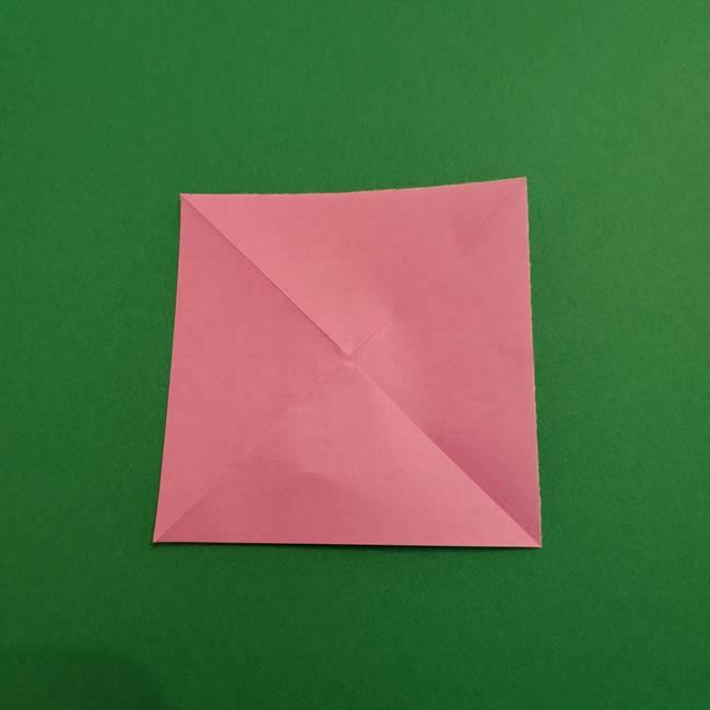 折り紙のアイスクリームコーン 立体的な折り方作り方2(4)