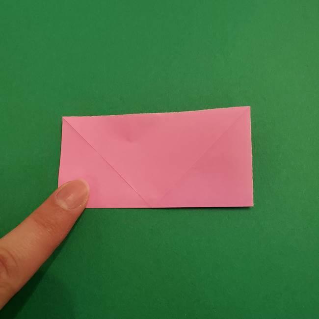 折り紙のアイスクリームコーン 立体的な折り方作り方2(5)