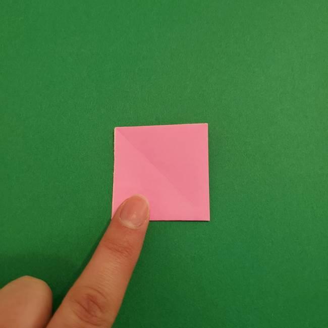 折り紙のアイスクリームコーン 立体的な折り方作り方2(6)
