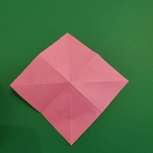 折り紙のアイスクリームコーン 立体的な折り方作り方2(7)