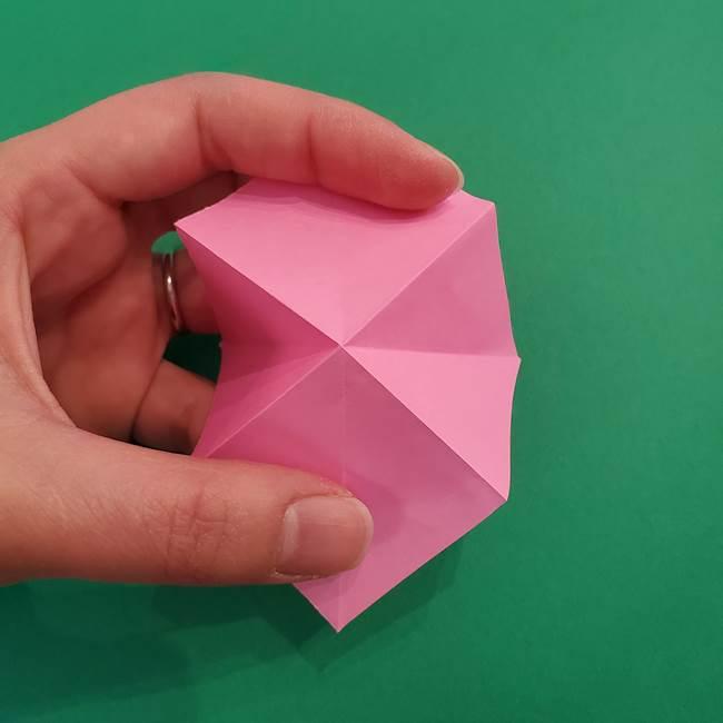 折り紙のアイスクリームコーン 立体的な折り方作り方2(8)