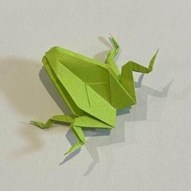 折り紙のカエル 膨らませる折り方★少し難しいけど上級者が本格的に挑戦してみた♪