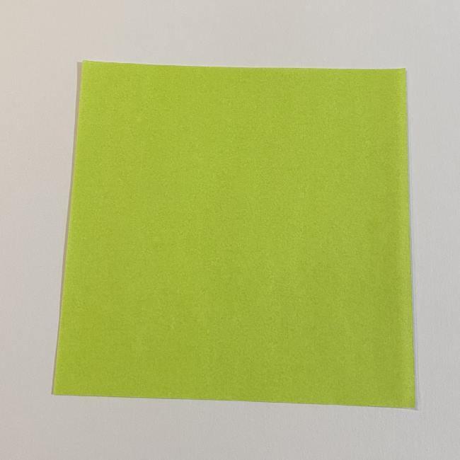 折り紙のカエル 膨らませる折り方(少し難しいので上級者向け) (1)