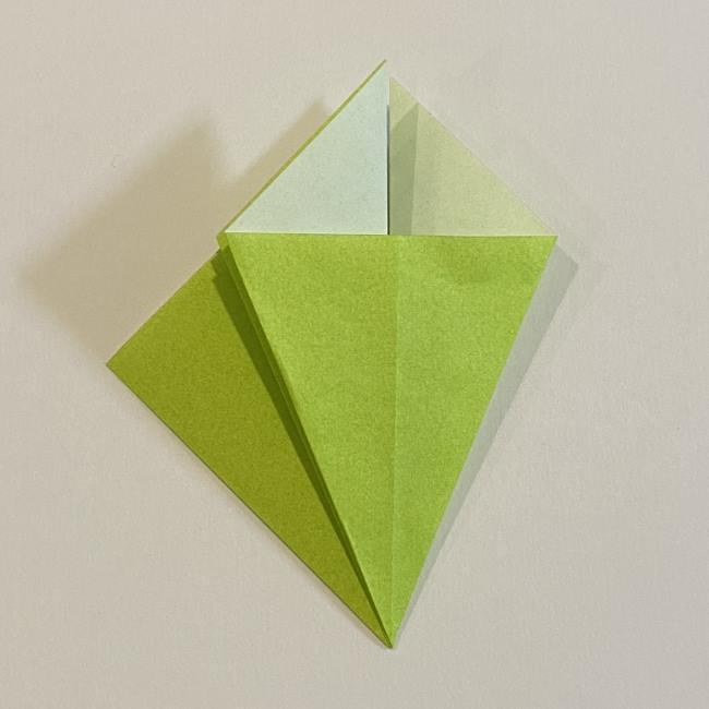 折り紙のカエル 膨らませる折り方(少し難しいので上級者向け) (10)