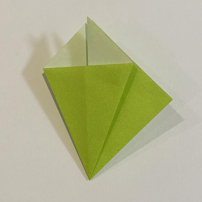折り紙のカエル 膨らませる折り方(少し難しいので上級者向け) (11)