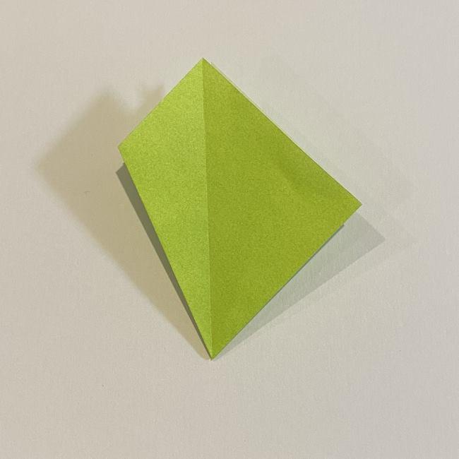 折り紙のカエル 膨らませる折り方(少し難しいので上級者向け) (12)