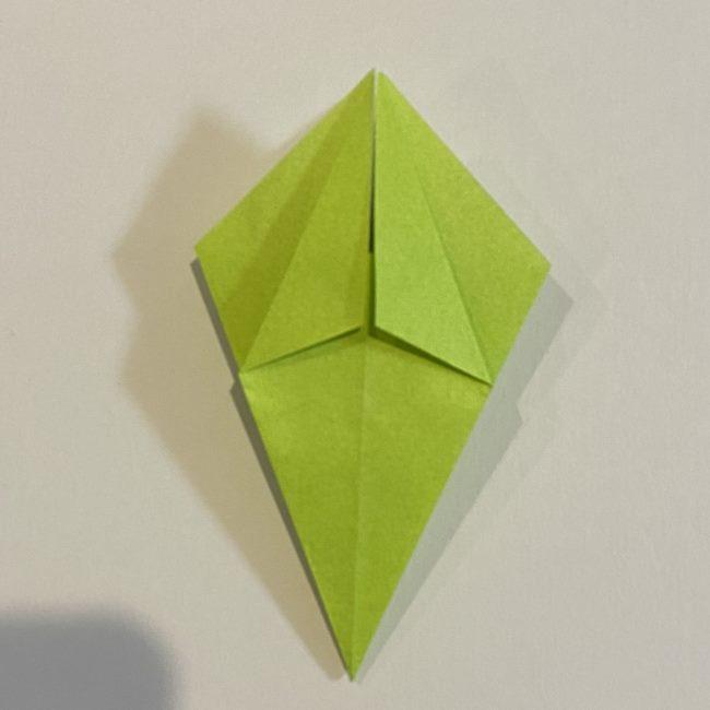 折り紙のカエル 膨らませる折り方(少し難しいので上級者向け) (14)