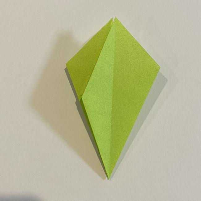 折り紙のカエル 膨らませる折り方(少し難しいので上級者向け) (15)
