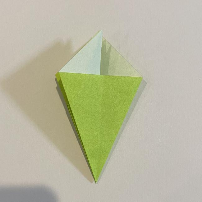 折り紙のカエル 膨らませる折り方(少し難しいので上級者向け) (16)