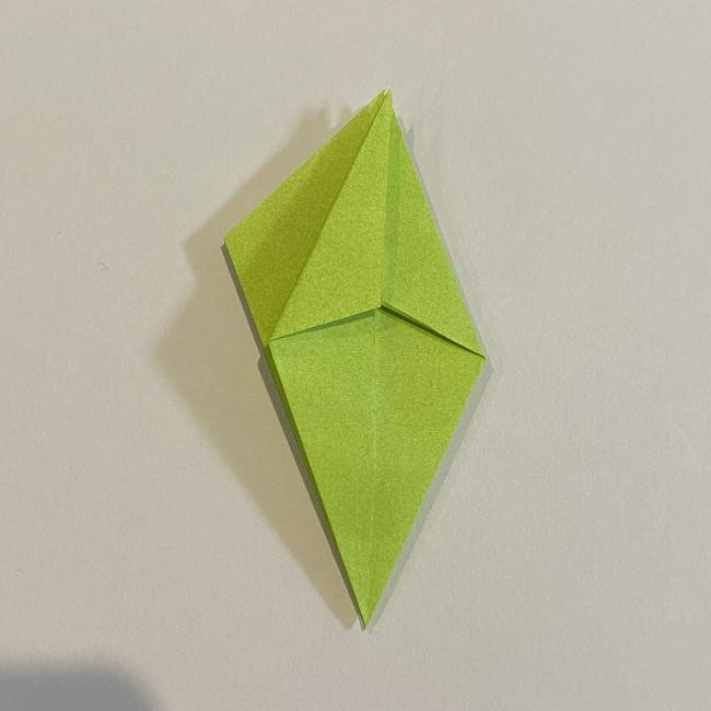 折り紙のカエル 膨らませる折り方(少し難しいので上級者向け) (17)