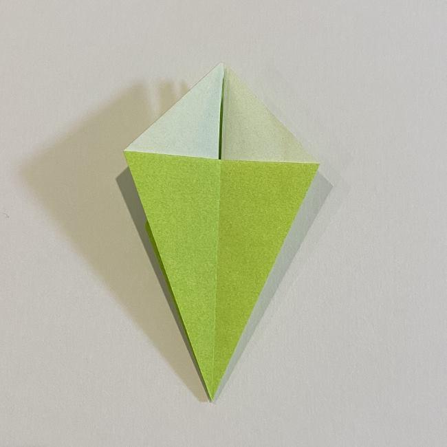 折り紙のカエル 膨らませる折り方(少し難しいので上級者向け) (18)