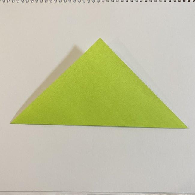 折り紙のカエル 膨らませる折り方(少し難しいので上級者向け) (2)