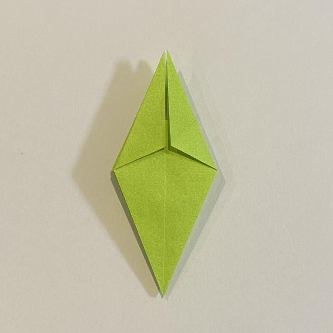 折り紙のカエル 膨らませる折り方(少し難しいので上級者向け) (21)