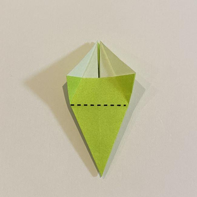 折り紙のカエル 膨らませる折り方(少し難しいので上級者向け) (23)