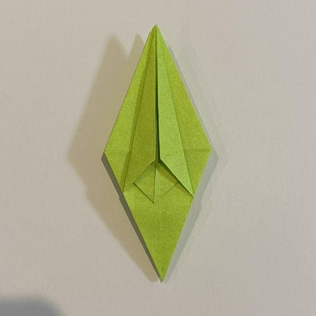 折り紙のカエル 膨らませる折り方(少し難しいので上級者向け) (25)