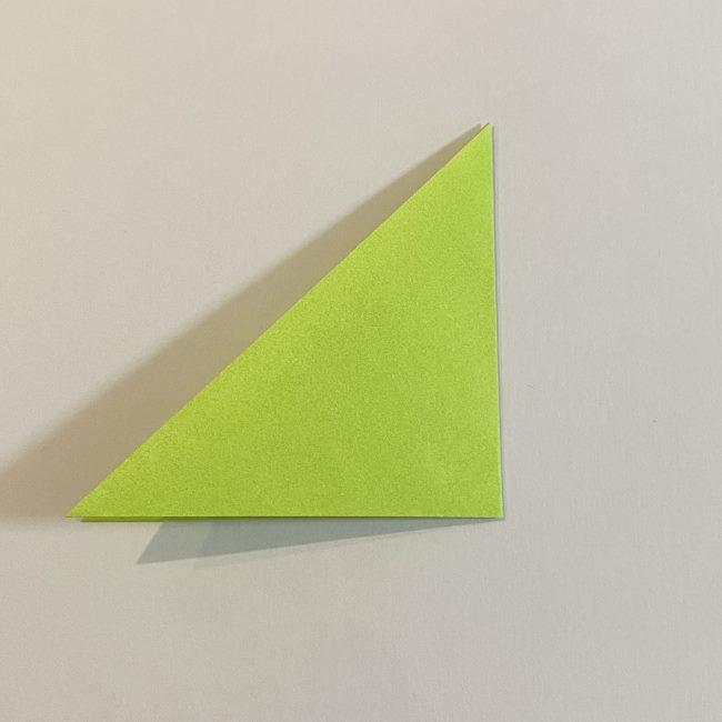 折り紙のカエル 膨らませる折り方(少し難しいので上級者向け) (3)