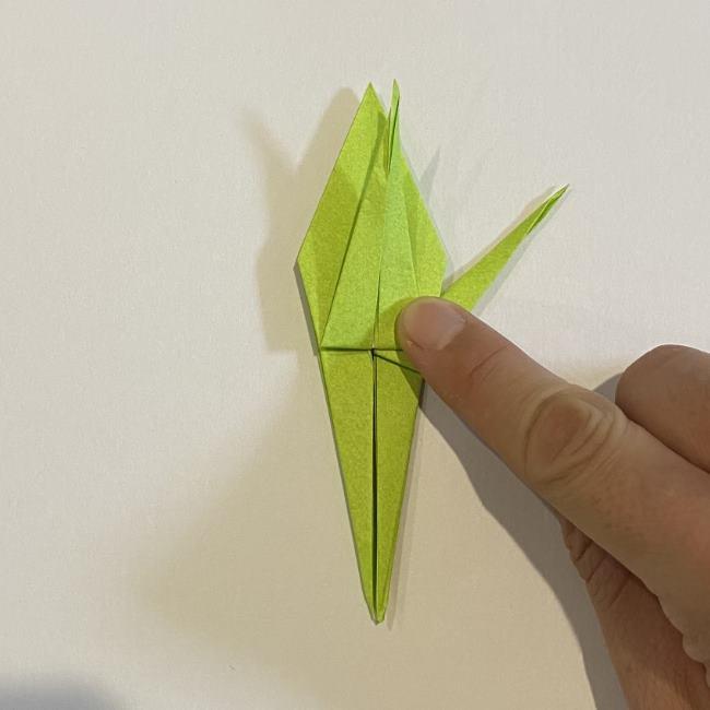 折り紙のカエル 膨らませる折り方(少し難しいので上級者向け) (32)