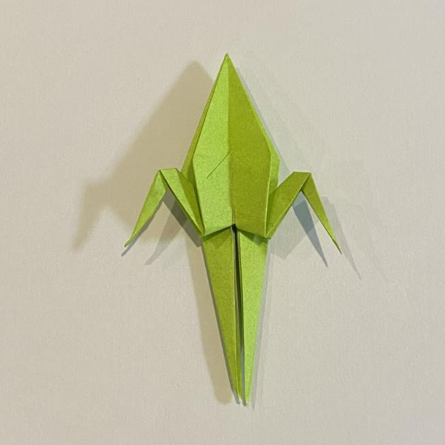 折り紙のカエル 膨らませる折り方(少し難しいので上級者向け) (34)