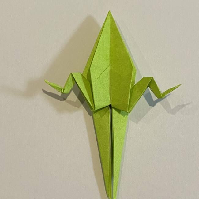折り紙のカエル 膨らませる折り方(少し難しいので上級者向け) (35)