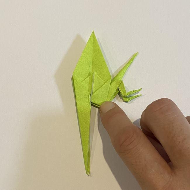 折り紙のカエル 膨らませる折り方(少し難しいので上級者向け) (38)