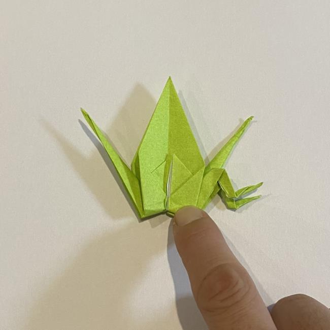 折り紙のカエル 膨らませる折り方(少し難しいので上級者向け) (39)