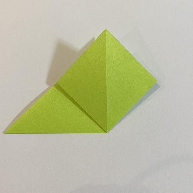 折り紙のカエル 膨らませる折り方(少し難しいので上級者向け) (4)
