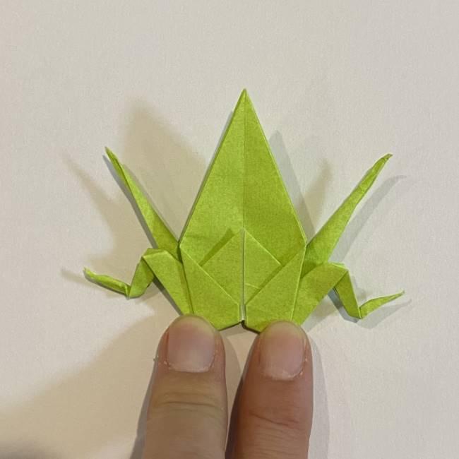 折り紙のカエル 膨らませる折り方(少し難しいので上級者向け) (40)