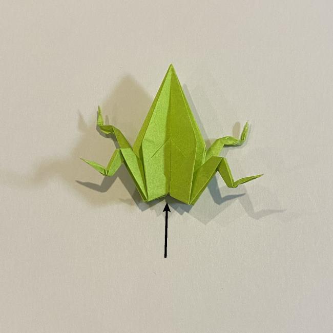 折り紙のカエル 膨らませる折り方(少し難しいので上級者向け) (42)