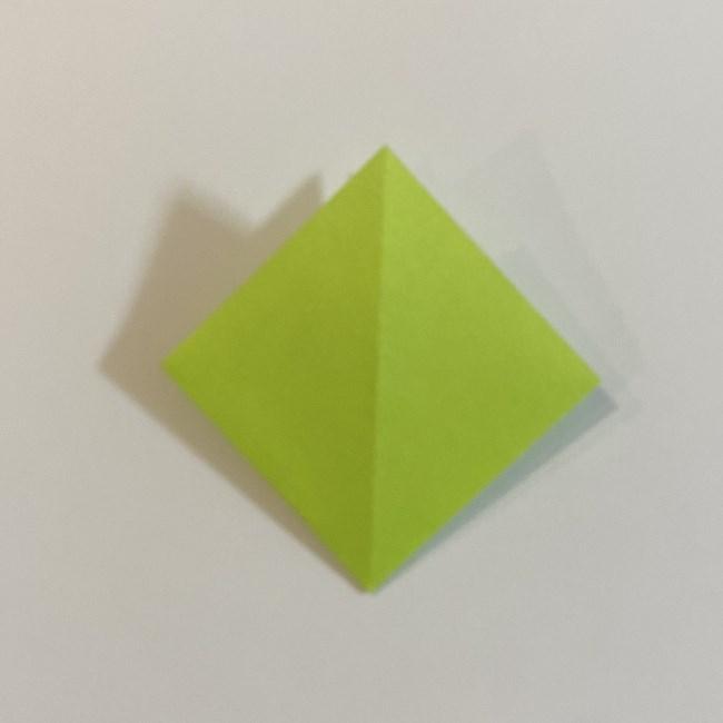 折り紙のカエル 膨らませる折り方(少し難しいので上級者向け) (5)