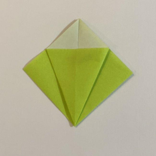 折り紙のカエル 膨らませる折り方(少し難しいので上級者向け) (6)