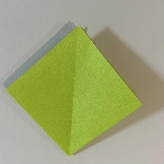 折り紙のカエル 膨らませる折り方(少し難しいので上級者向け) (7)