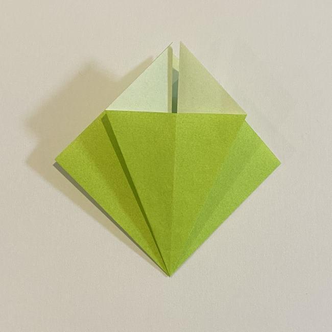 折り紙のカエル 膨らませる折り方(少し難しいので上級者向け) (8)