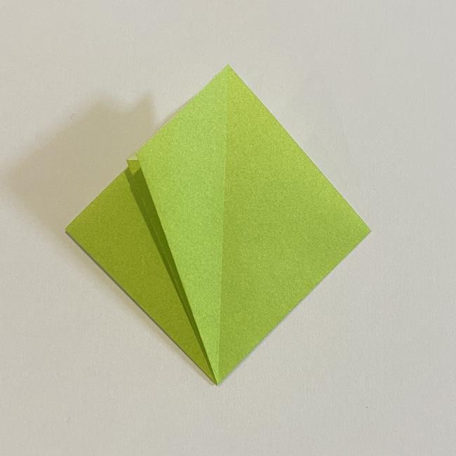 折り紙のカエル 膨らませる折り方(少し難しいので上級者向け) (9)