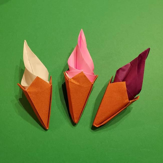 折り紙のソフトクリーム(立体)の折り方作り方★リアルでかわいい夏のスイーツ