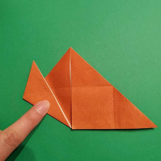 折り紙のソフトクリーム(立体)の折り方作り方コーン(12)