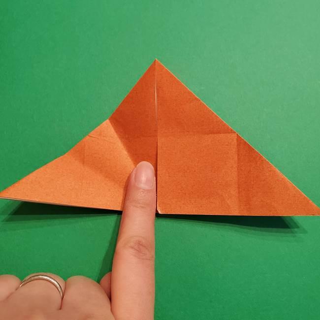 折り紙のソフトクリーム(立体)の折り方作り方コーン(14)