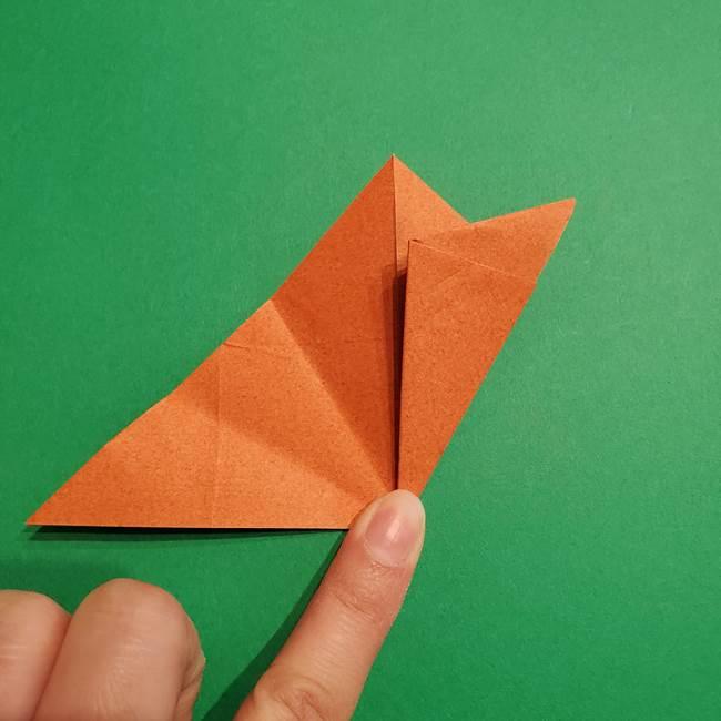折り紙のソフトクリーム(立体)の折り方作り方コーン(15)