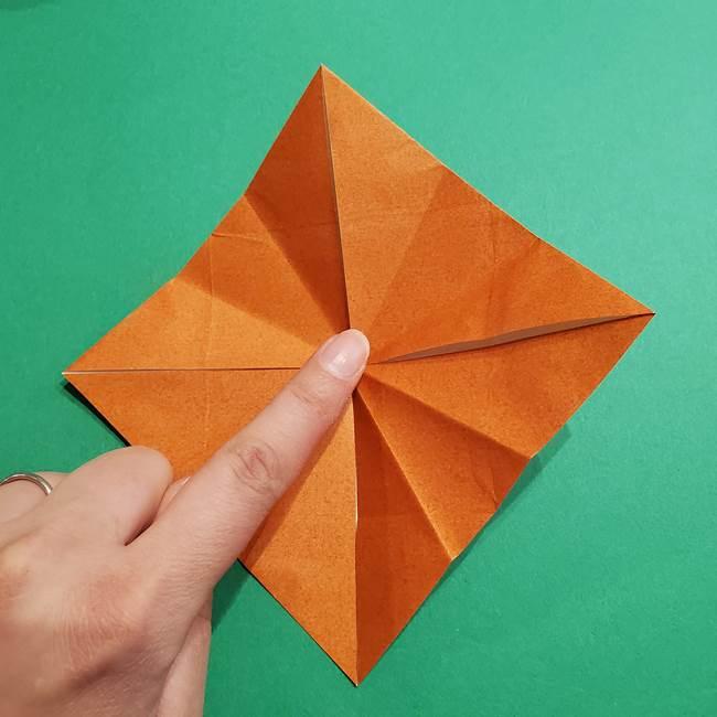 折り紙のソフトクリーム(立体)の折り方作り方コーン(17)