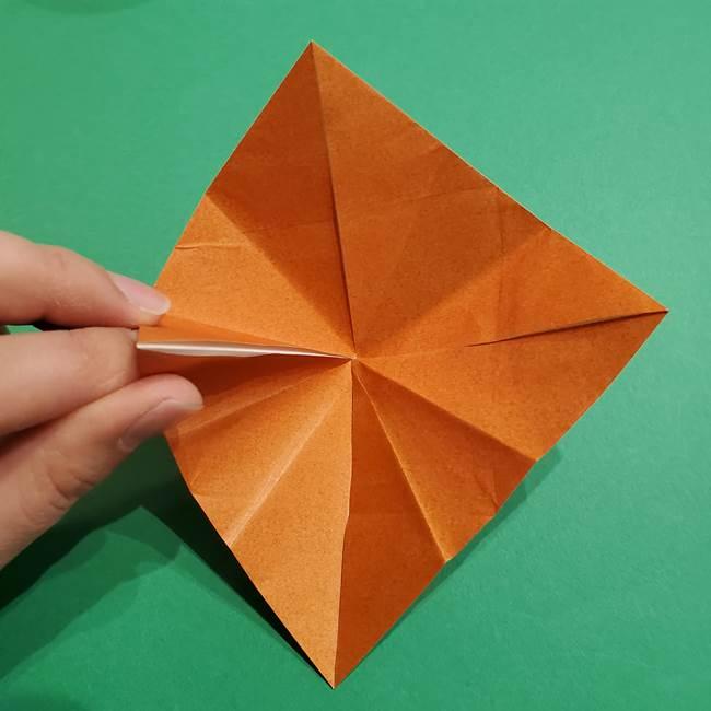 折り紙のソフトクリーム(立体)の折り方作り方コーン(18)