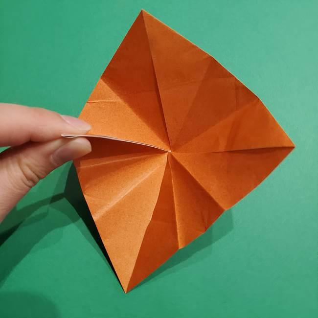 折り紙のソフトクリーム(立体)の折り方作り方コーン(19)