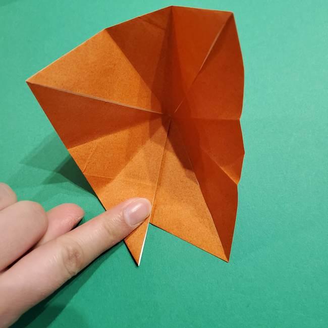 折り紙のソフトクリーム(立体)の折り方作り方コーン(20)