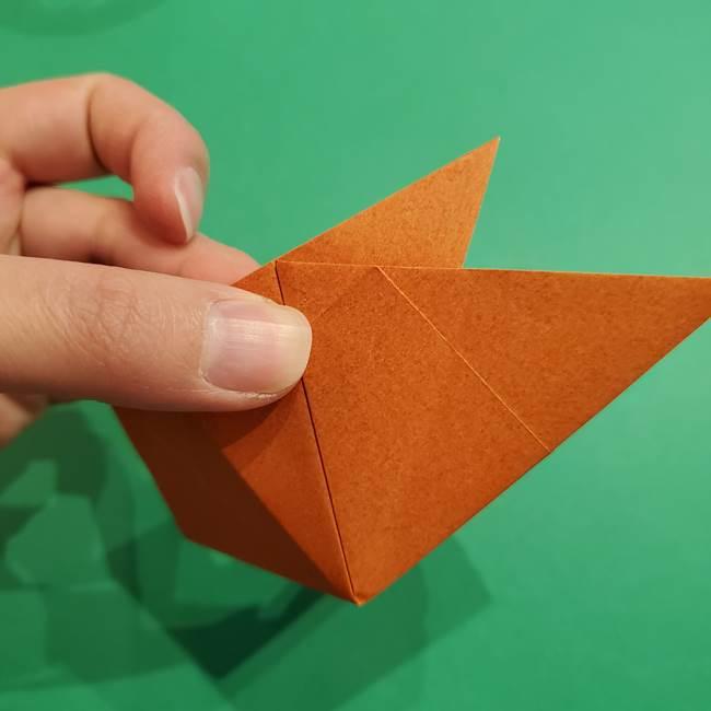 折り紙のソフトクリーム(立体)の折り方作り方コーン(21)
